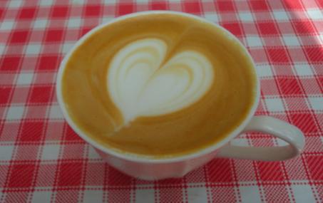 cappuccino - taza amarilla