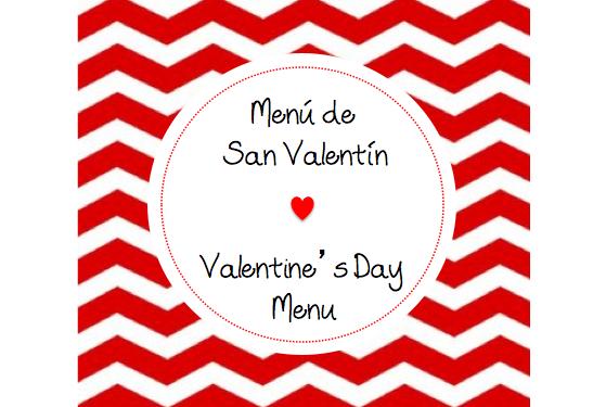 Menu San Valentin - Domingos Gourmet