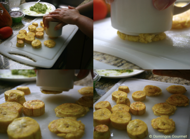 Making Plantain disks - Domingos Gourmet